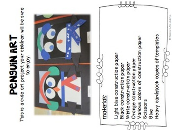 Penguin Activities: Literacy, Math, Science and Art