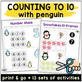 Penguin Math Activities for Preschool and Kindergarten