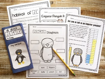 Penguin Activities No Prep Math, Literacy and Science Pack