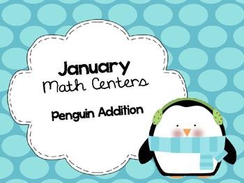 Penguin Addition Winter Math Center