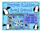 Penguin Addition Board Games- Winter Activity