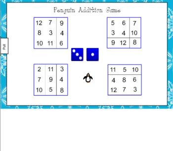 Penguin Addition Game for Smart Board
