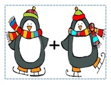 Penguin Addition Mat to use with Goldfish Crackers!
