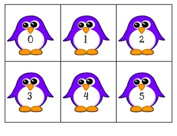 Penguin Addition Match Game