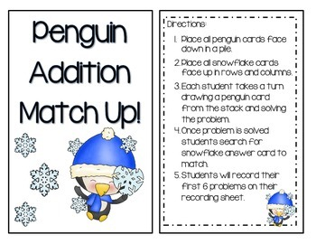 Penguin Addition Match Up