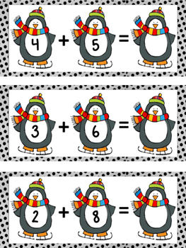 Penguin Addition Math Center