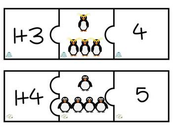 Penguin Addition Puzzles: Facts 1-5