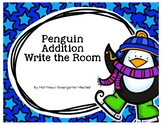 Penguin Addition Write the Room