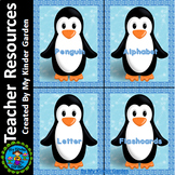 Penguin Alphabet Letter Flashcards Uppercase and Lowercase