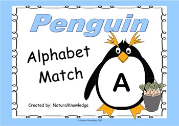 Penguins: Alphabet Match:  Letter to Letter