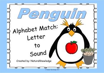 Penguins: Alphabet Match:  Letter to Sound