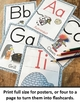 Alphabet Poster Set - Penguin Decor Theme (Full Page Size)