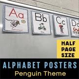 Alphabet Poster Set - Penguin Decor Theme (Half Page Size)