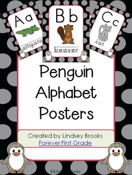 Penguin Alphabet Posters