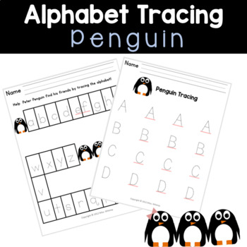 Penguin Alphabet Tracing & Mazes
