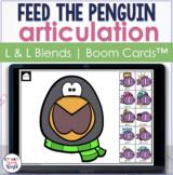 Penguin Articulation BOOM Cards™ for L & L Blends | Speech