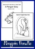 Penguin BUNDLE - Read & Color a Penguin Story + Shape Book