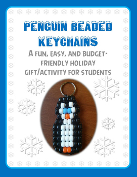Penguin Beaded Keychains