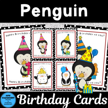 Penguin Birthday Cards and Posters