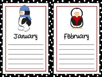 Penguin Birthday Chart