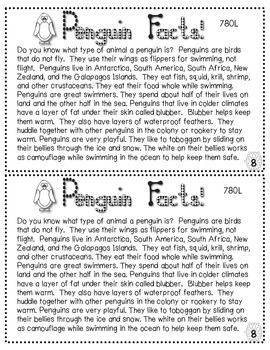 Penguin Booklet (Lexile Leveled Passages and Activities)