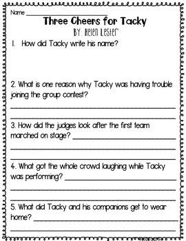 Penguin Books Comprehension Questions