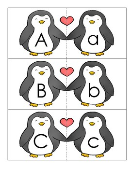 Penguin Buddies- Matching Lower Case and Upper Case (mayusculas y minusculas)