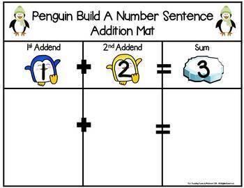 Penguin Build 2 Addend 0-20 Addition & Subtraction Number Sentence