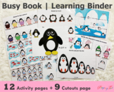 Penguin Busy Book | Learning Binder | Toddler Learning Fol