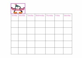 Penguin Calendar