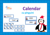 Penguin Calendar Numbers in Romanian, Calendar cu Pinguini in limba Romana
