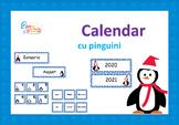 Penguin Calendar Numbers in Romanian, Calendar cu Pinguini