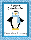 Penguin Calendar Set  - Calendar Numbers - Month Headers