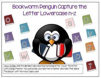 Penguin Capture the Alphabet Dice Game