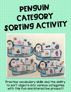 Penguin Category Sorting Activity