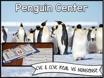 Penguin Center ~ CVC & CCVC Real vs Nonsens