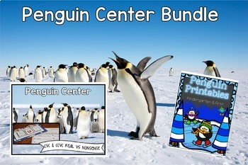 Penguin Centers and Printables bundle