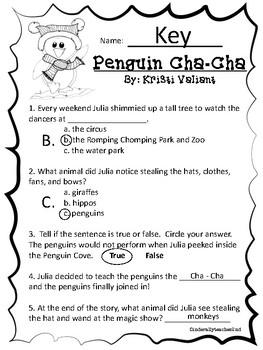 Penguin Cha-Cha Comprehension Paper