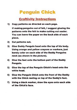 Journeys 2nd grade, Unit 5, Lesson 21 Penguin Chick Craftivity