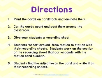 Penguin Chick (Journeys L.21, 2nd Grade) WHAT IS AN ADJECTIVE Grammar Task Cards