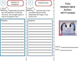 Penguin Chick: Literacy Response Trifold