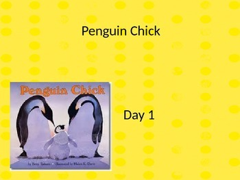Penguin Chick Powerpoint and interactive notebook