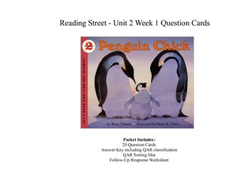 Penguin Chick Question Cards - Third Grade Reading Street: Unit 2 Week 1