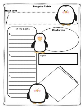 Penguin Chick Story Map Graphic Organizer