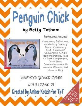 Penguin Chick Supplemental Activities 2nd Grade Journeys Unit 5, Lesson 21