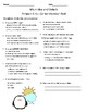 Penguin Chick Vocabulary & Comprehension Test- Main Idea - Journeys