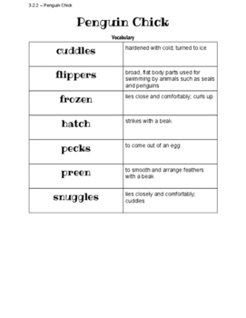 Penguin Chick Word Study and Vocabulary Sorts