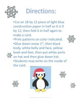 Penguin Christmas Card Craft