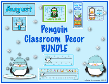 Penguin Classroom Decor BUNDLE