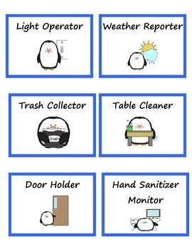 Penguin Classroom Jobs Labels